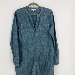 Brooke Brothers Chambray Shirtdress
